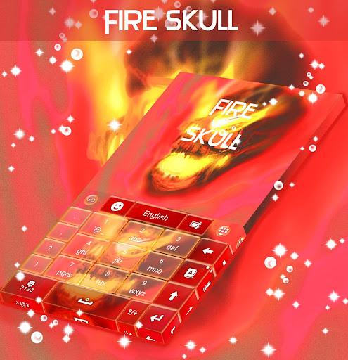 無料个人化Appの火災スカルキーボード|記事Game