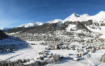 Photo: DAVOS-KLOSTERS/SWITZERLAND, 3JAN12 - Aerial view of the mountain resort Davos/Switzerland where the World Economic Forum Annual Meeting 2012 will take place January 25 - 29, 2012.Copyright by World Economic Forumswiss-image.ch/Photo by Andy Mettler