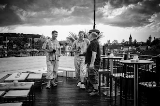 Photo: smaltalk before the G+ Photowalk Lucerne +Daniel Diggelmann +Ingo Meckmann+Charles Lupica  #gplusanniversary  #GPlusAnniversaryLuzern  #luzern06302012  #street #streettogs #streetphotography #shootthestreet #blackandwhite #bw #monochrome