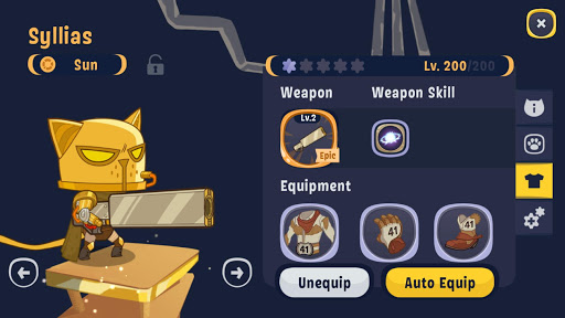 Code Triche AFK Cats: Aru00e8ne RPG Idle et Batailles de vos Hu00e9ros APK MOD screenshots 6