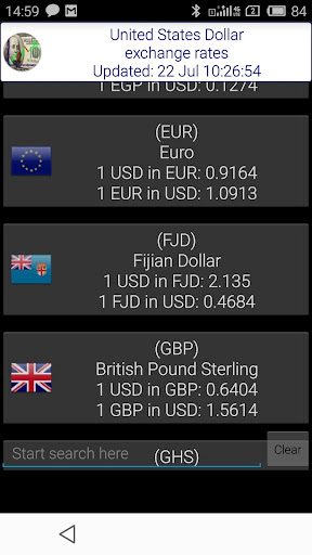 US Dollar World Exchange
