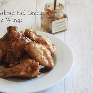 Caramelized Red Onion Chicken Wings