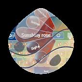 Sunshiny rose GO Keyboard