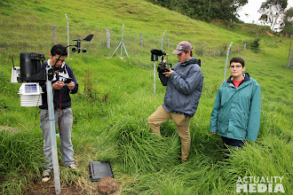 Photo: Filming in the high mountains with the FCT crew.