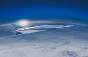 A rendering of Boeing's hypersonic jet.