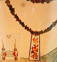 Photo: Copper enamel pendant, goldstone, ceramic, copper, 14K gold vermeil  SOLD/ПРОДАНИЙ