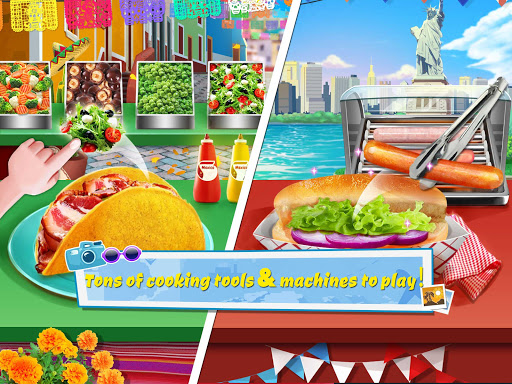 Crazy Foods Cooking: World Travel u2764Make Food Games 1.0 screenshots 8
