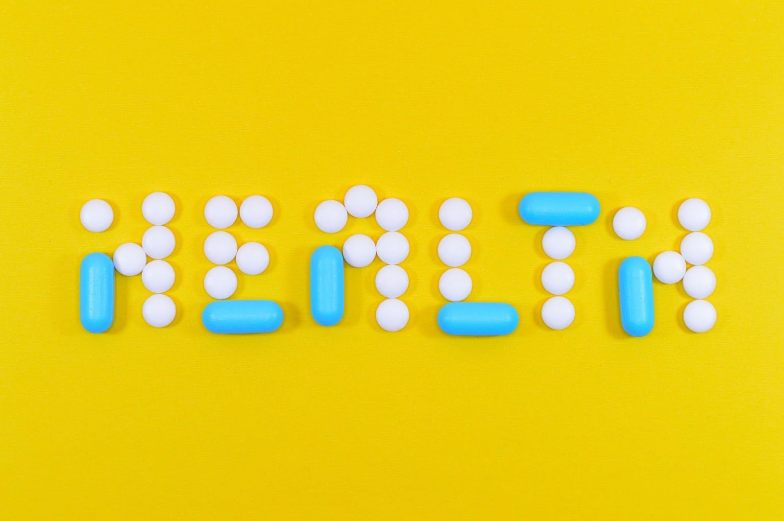 health spelt out in pills
