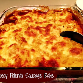 Cheesy Polenta Sausage Bake.