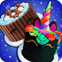 Real Cakes Cooking Game! Rainbow Unicorn Desserts icon
