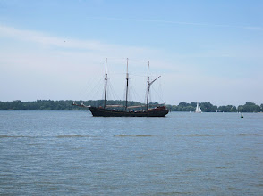 Photo: Three-masted schooner on Lake Ontario