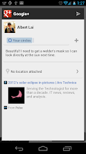Photo: Users on Pulse News can add comments to a Google+ post.