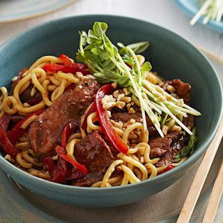 Pork and Hoisin Noodle Stir Fry