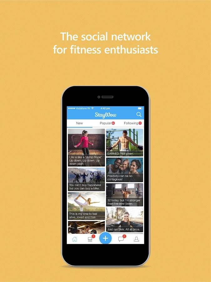 StayWow Fitness Social Network- screenshot