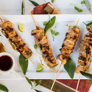 Healthy Soy-Lime Chicken Skewers.