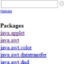 Javadoc Search Frame