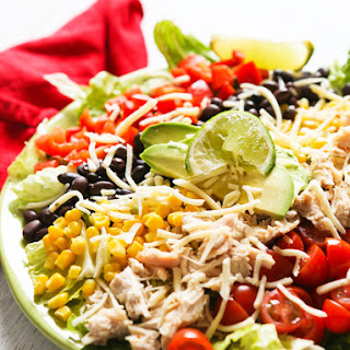 Southwest Chicken Salad with Avocado Ranch Dressing.