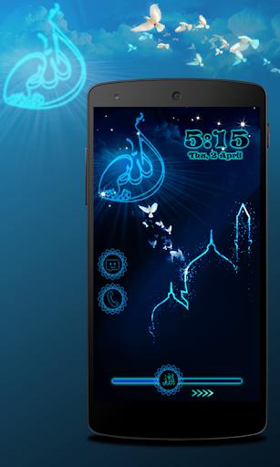 無料个人化Appのネオンイスラム画面ロック|記事Game