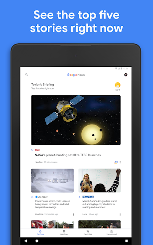 Google News screenshot for Android