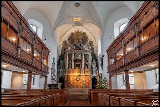 Photo: Barockaltar in St. Blasii in Quedlinburg.  Die älteste Kirche wurde 1267 durch einen prächtigen Bau ersetzt, der bis 1711 stand. In diesem Jahr begann ein Umbau der Kirche – mit Ausnahme des Turms.