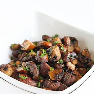Easy Roasted Mushrooms with Rosemary & Garlic.
