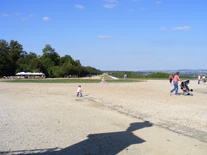 Photo: The garden's famous 1-1/2 mile long stone terrace, giving the impressive views of the Seine valley back to Paris, was built by by André Le Nôtre in 1669-1673.
