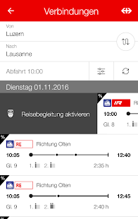 SBB Mobile – Miniaturansicht des Screenshots