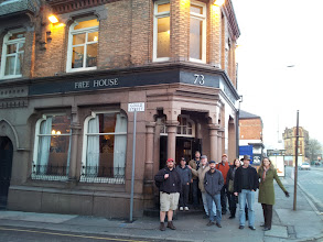 Photo: The group makes it to Manchester's excellent Marble Arch brewpub.