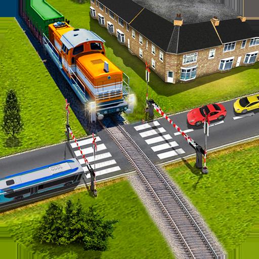 Indian Railroad Crossing: Railway Train Passing 3D