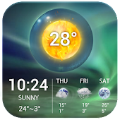 Aurora Weather Clock Widget