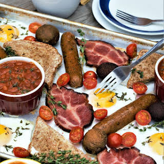 Sheet Pan Full English For Two.