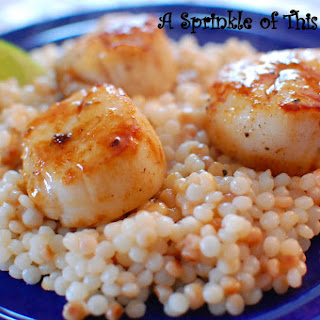 Floridian Foodie Series - Pan Seared Scallops and Couscous.