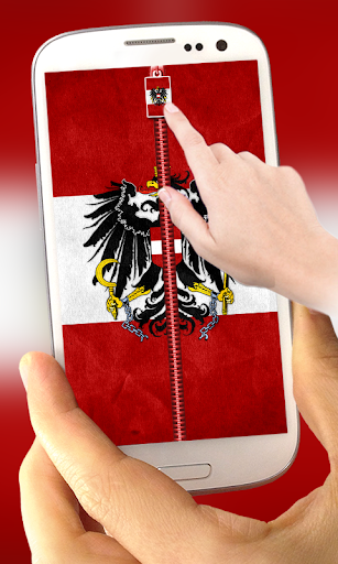 Austria Flag Zipper LockScreen