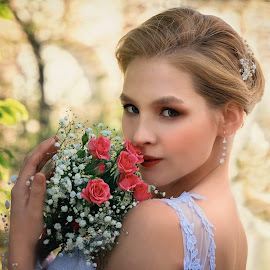 Lillie  by Michaela Firešová - Wedding Bride ( bride, beauty, female )
