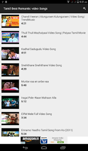 Tamil Romantic video Songs screenshot 0