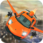 Flying Car Stunts & Flying Car Shooting Simulator