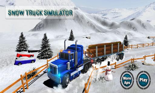 雪トラックシミュレータ: 4x4の
