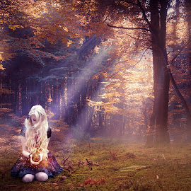 Just Inner Peace... by Ilkgul Caylak - Digital Art People ( nature, photoshop, girl )