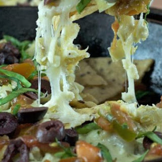 Greek Nachos with Creamy Hummus