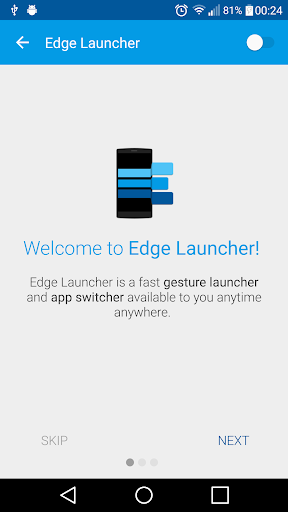 Edge Launcher screenshot 1