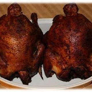 Brine Smoked Chicken.