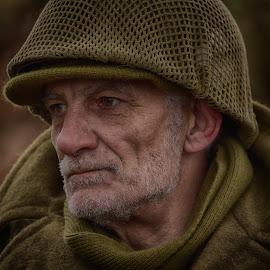 by Marco Bertamé - People Portraits of Men ( gi, expression, beard, soldier, headshot, helmet, military, american, man, portrait, human, us )