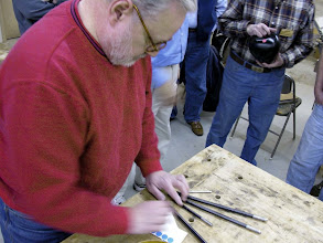 Photo: Mike Blake brought in some Woodcut replaceable tip gouges he bought online direct from the manufacturer at a very good price