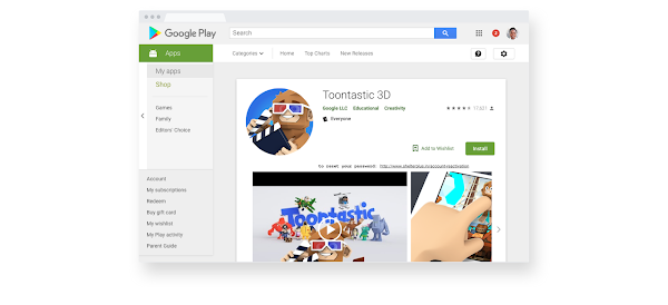 image_alt_text:  The family section of the Google Play store