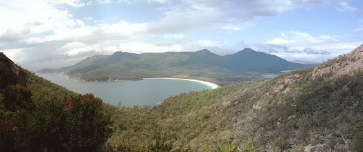 Photo: This is the reward for hiking up to the lookout over Wineglass bay
