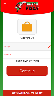Jet's Pizza Ordering - screenshot