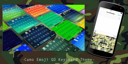 Camo Emoji GO Keyboard Theme
