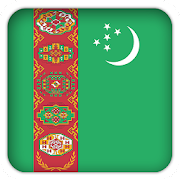 Selfie with Turkmenistan flag