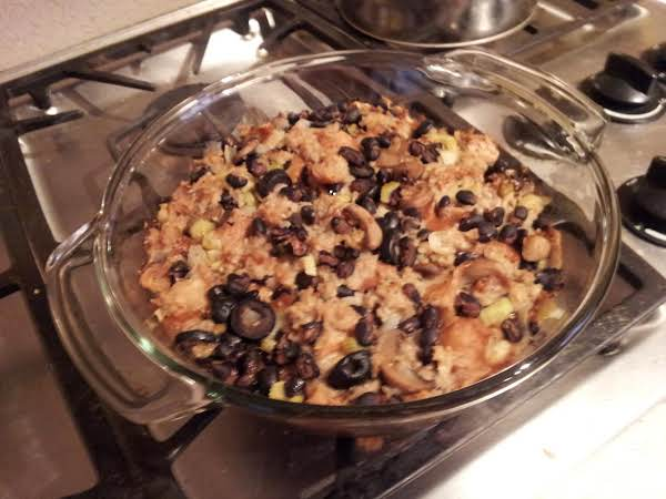 Black Bean, Black Olive, And Mushroom Stuffing Recipe
