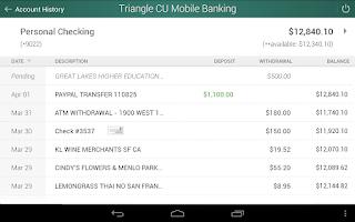 Screenshot of Triangle Credit Union